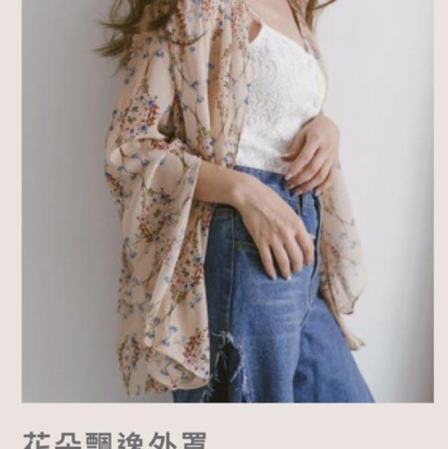全新轉賣Mercci22花罩衫
