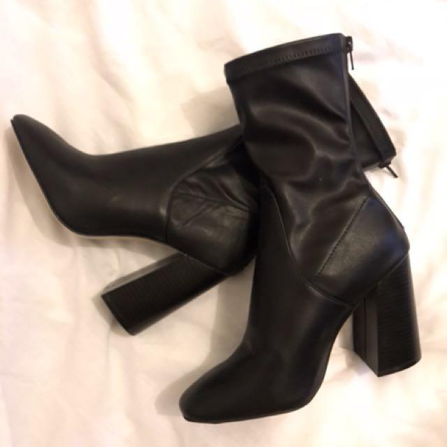 Miss Shop Cheetah Boots Size 8