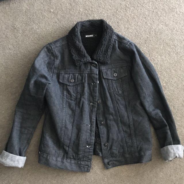 Missguided Borg Denim Jacket