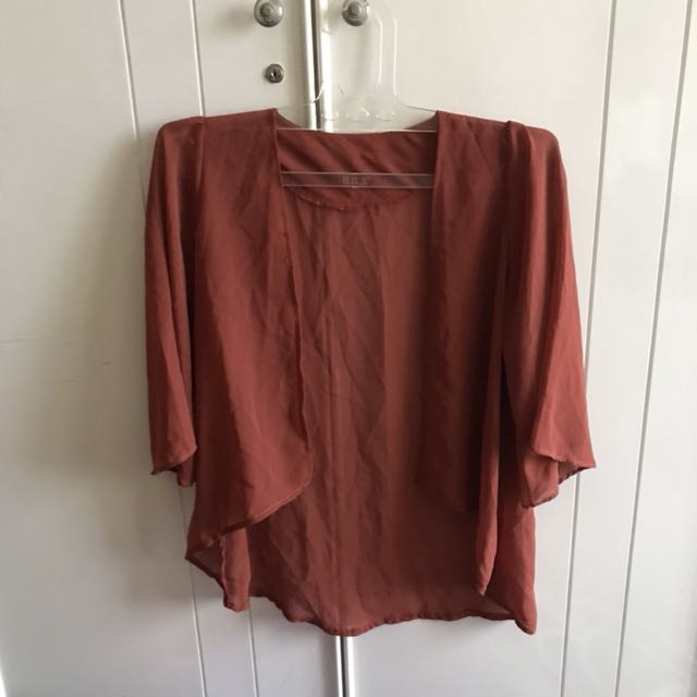 (NEW) Brick Brown Sheer Outer