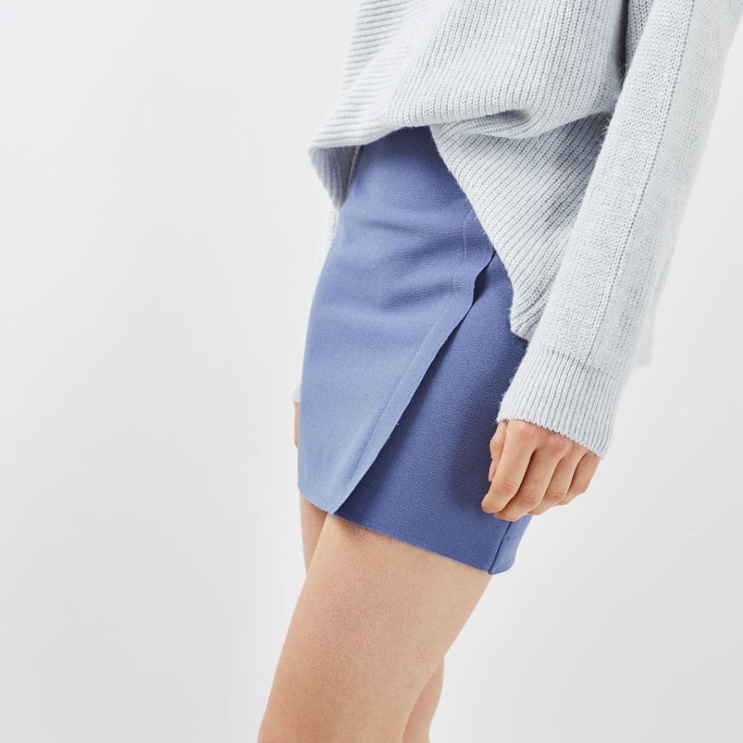 (new) Topshop Raw Edge Wrap Skirt