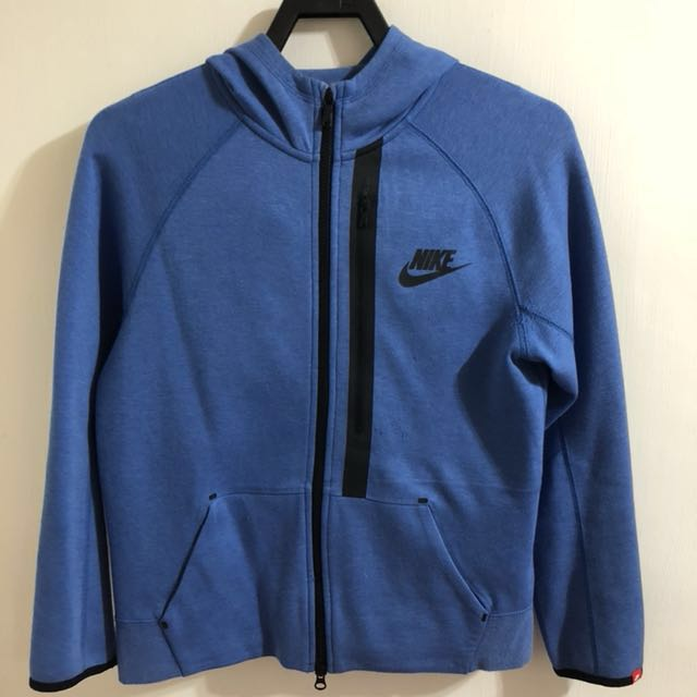 Nike TECH FLEECE Kids 連帽外套  (藍)-L