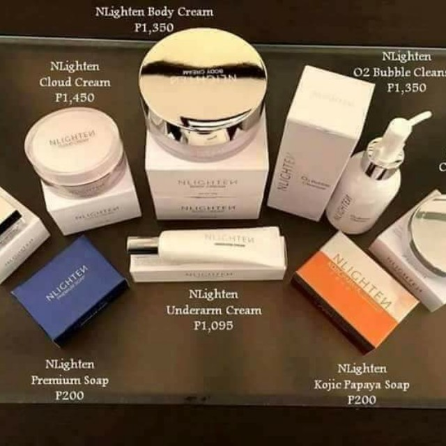 Nlighten soap and other products
