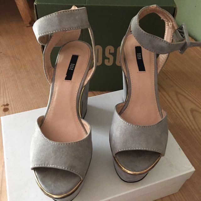 Nose Grey platform shoes