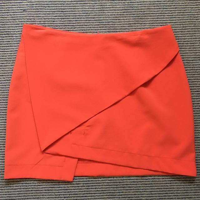 Orange Mini Skirt. GREAT CONDITION.