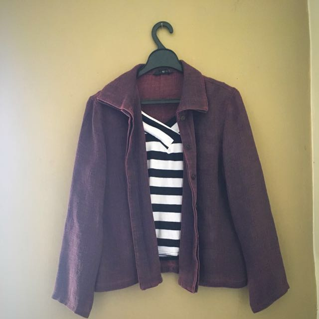 Outer / Blazer Dark Purple