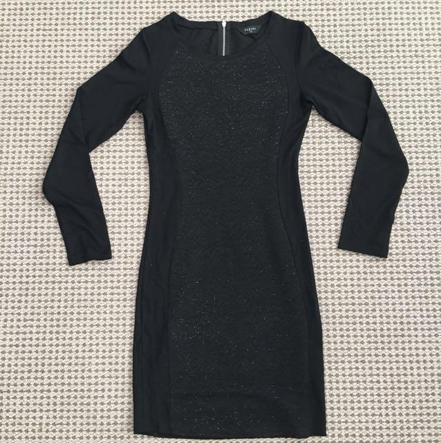 Pagani black bodycon dress
