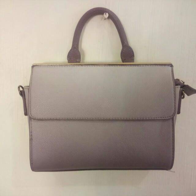 Parfois sling bag ombre violet with free mark Spencer lotion