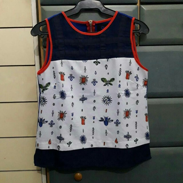 Plains & Prints sl top