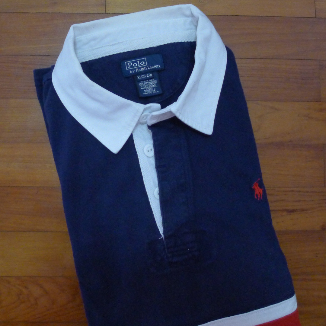 e1dbd23d Polo Ralph Lauren Navy Chest Stripe Rugby Shirt, Men's Fashion ...