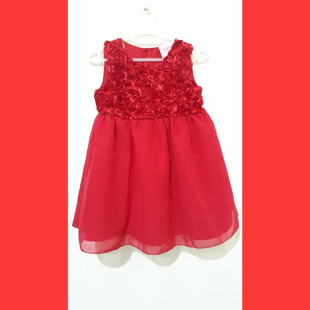 Repriced: Red ruffled dress