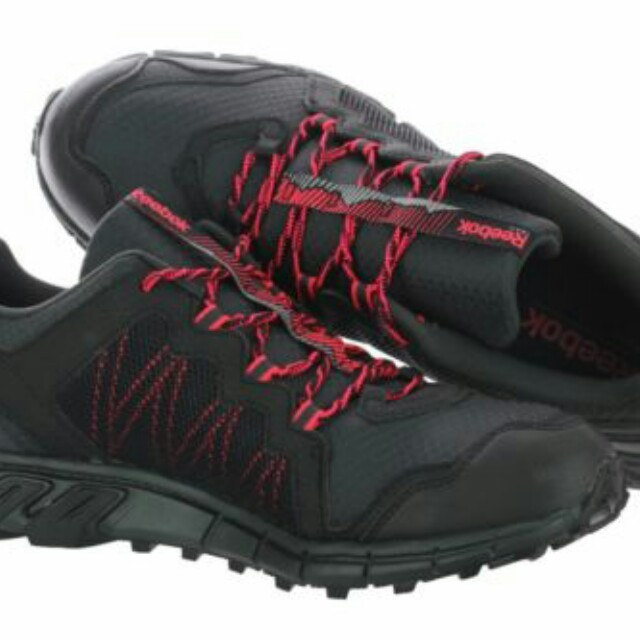 Reebok Trailgrip Rs 4.0 M49407 Black Mesh Hiking Trail Shoes Medium ... e3636bb53
