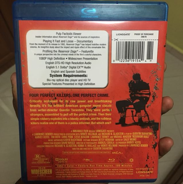Reservoir Dogs 15th Anniversary edition blu ray