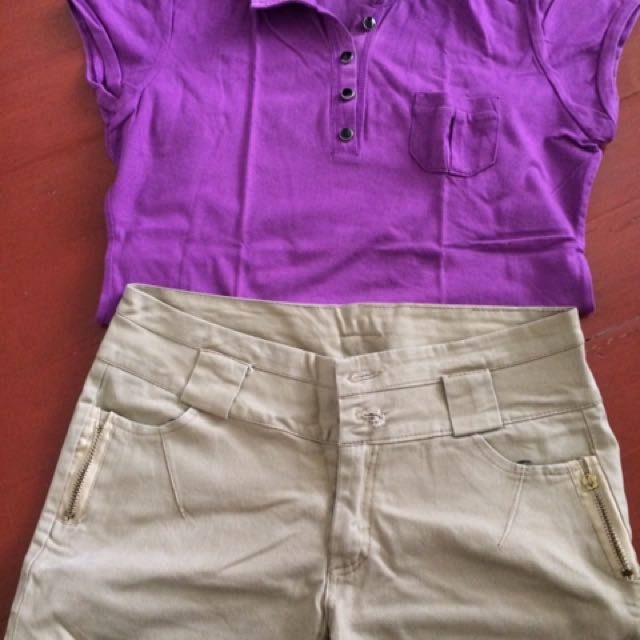 Selling My Preloved MSE blouse And Shorts