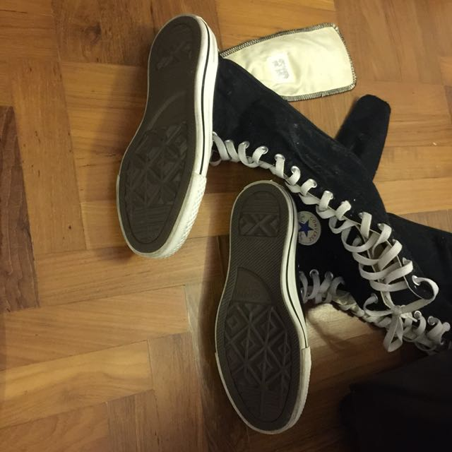 3d4b157497ccea Selling QYOP AUTHENTIC NEW NEVER WORN CONVERSE ALL STAR LACE UP KNEE HIGH  CHUCK TAYLOR SNEAKERS SHOES HIGH TOPS