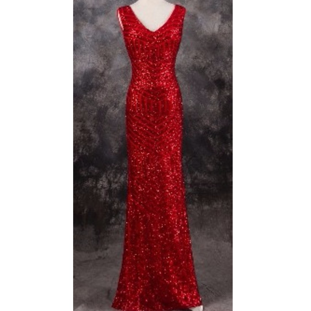 sequins gown