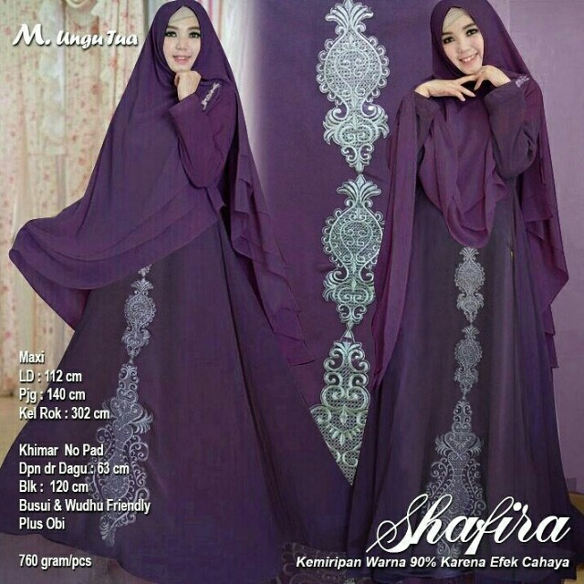 Shafira Syari Ungu Women S Fashion Muslim Fashion On Carousell