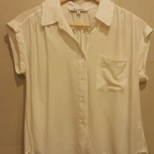 Shirt putih lengan pendek