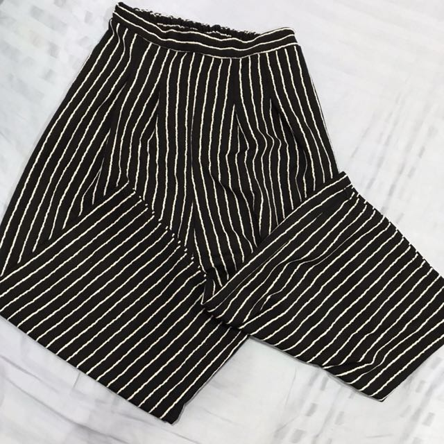 Stripes cullotes pants