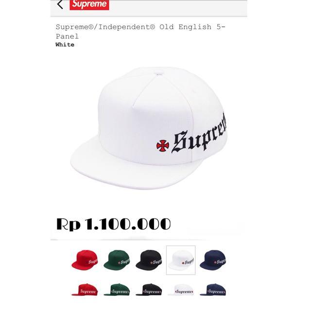 Supreme/Independent 5 panel hat