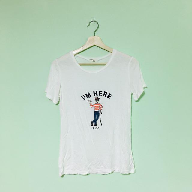 我是威力印花上衣/短袖T恤