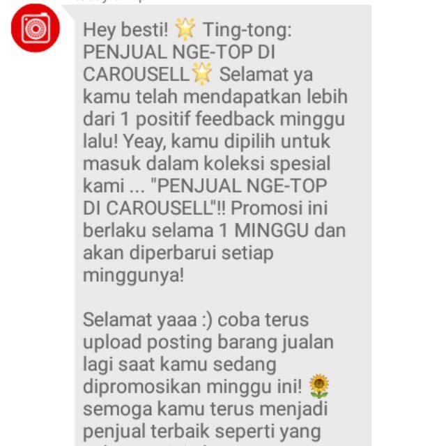 Thankss Carousell...:-) :-)