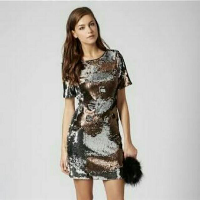 Top shop party sequin dress not mango H&M cotton on uniqlo