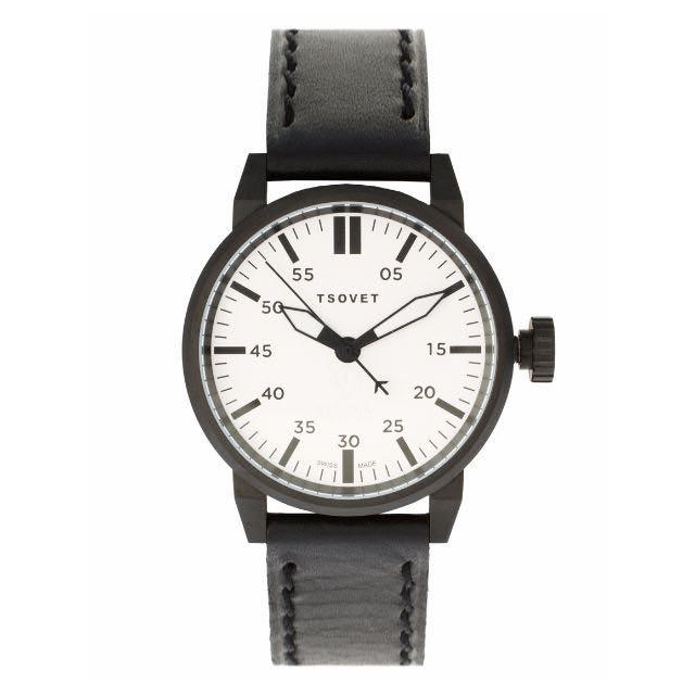 TSOVET SVT-FW44 黑色白面 瑞士錶 皮錶帶 ASOS 官網購入 全新