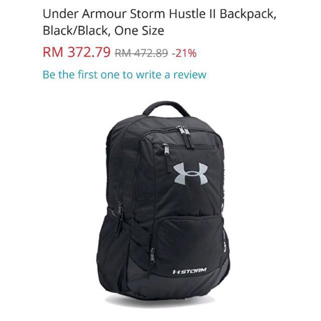 under armour hustle bag
