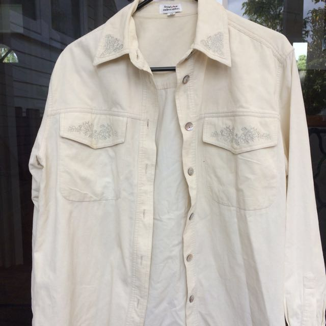 Vintage Corduroy-style Long Sleeve With Detail