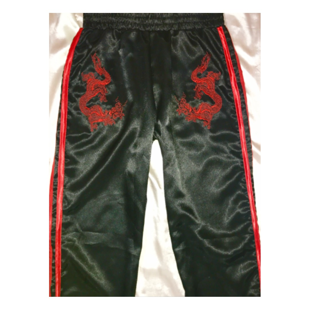 Women's O-mighty omweekend Silk Dragon Trackies Black and Red