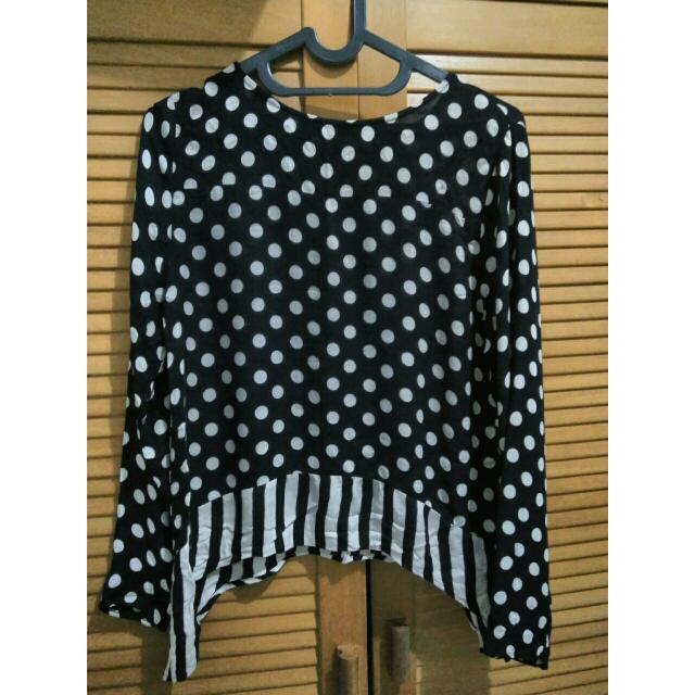 Zara Polkadot Top