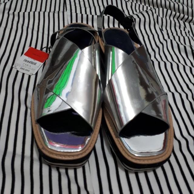 Zara sandal wedges size 40