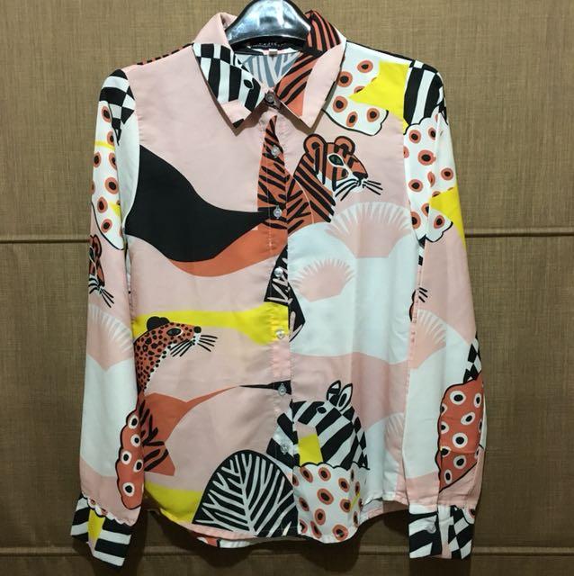 Zebra shirt abstract