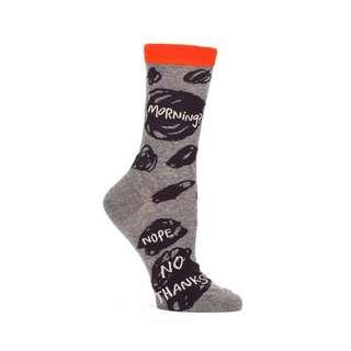 🇺🇸MORNING? NOPE, NO THANKS SOCKS美國品牌blueq女款棉襪