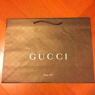 🚚 Gucci 紙袋 提袋 48cm*36cm