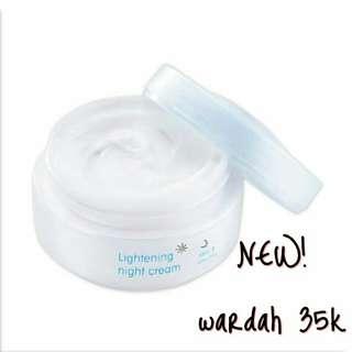New! Wardah lightening night cream