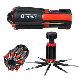 8in1 Multi-Screwdriver w/LED Torch