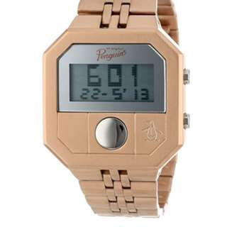 Penguin brand rose gold digital watch