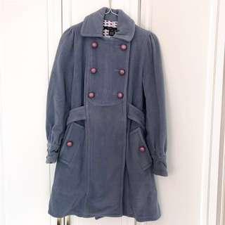 Marc Jacobs Wool Coat Jacket 粉藍絨大褸