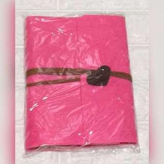 (包順豐)Diy毛毯黑紙相簿連材料 瑩光粉紅色