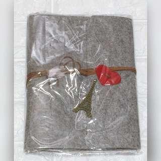 (包順豐)Diy毛毯黑紙相簿連材料 灰色