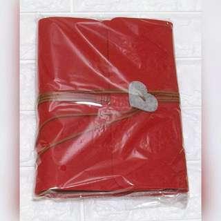 (包順豐)Diy毛毯黑紙相簿連材料 紅色