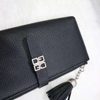 Tassle Leather Wallet (Black)