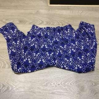 Celana kain blue uniqlo