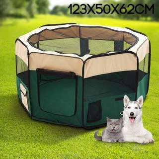 Small Sized Portable Pet Tent Playpen Dog/Cat Kennel 8 Panels