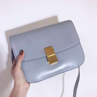 Celine Medium Classic Box (Sky Blue)