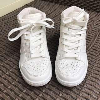 High Cut White Sneakers