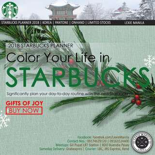 2018 Starbucks Planner Korea On Hand