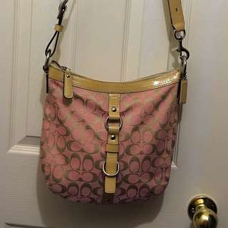 Pink Coach Cross Body Bag